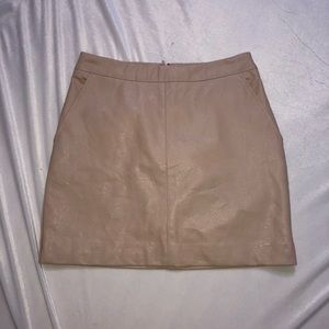 Beige faux leather skirt new with tags